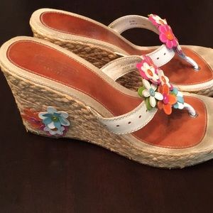 Coach Jessica Patent wedge sandal white/multi